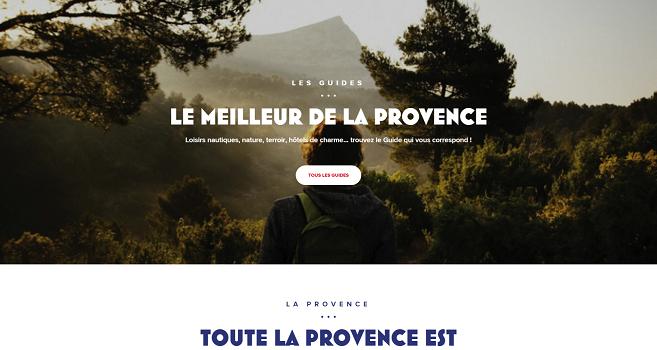 Le nouveau site MyProvence.fr regroupe le meilleur de l'offre touristique des Bouches-du-Rhône - Capture d'écran