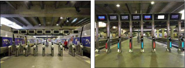 Les voyageurs devront valider leur titre de transport aux bornes de filtrage - DR