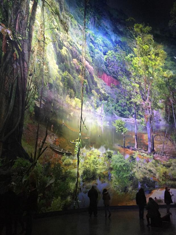 The Amazonia panorama inside the rotunda of the Panorama XXL.