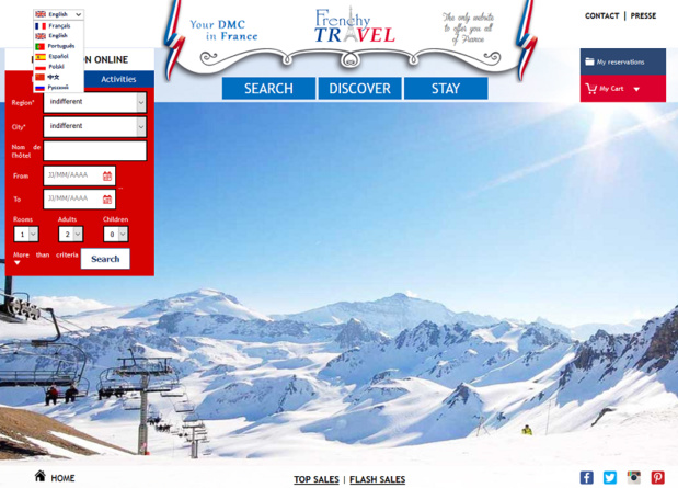 Frenchy Travel will create a structure in Beijing, and a team of Chinese personnel is being crafted in France - DR: Screenshot Frenchy Travel