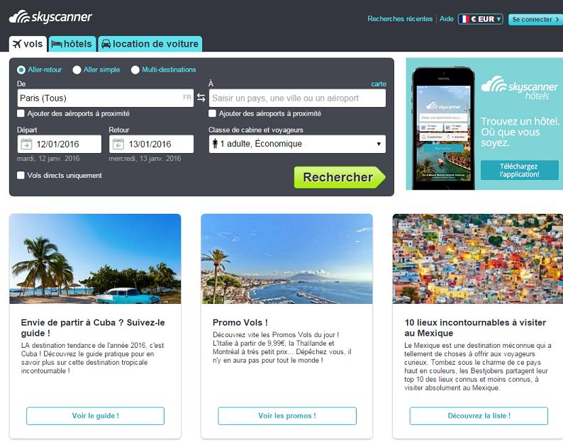 Grâce à cette levée de fonds, Skyscanner devient une nouvelle licorne du tourisme (c) Capture d'écran