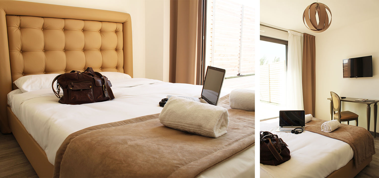 Chambre d'un appart hotel Adonis