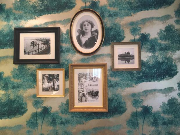Room of Villa Otéro - with a portrait of Carline Otéro in the middle.
