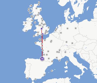 Flybe vole vers Southampton et Birmingham au départ de Biarritz - DR : Flybe