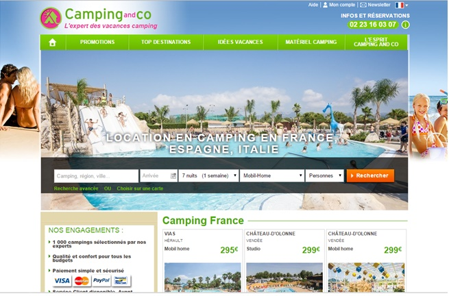 Camping and co a l'intention de proposer plus de 1000 destinations européennes - (c) Camping and co