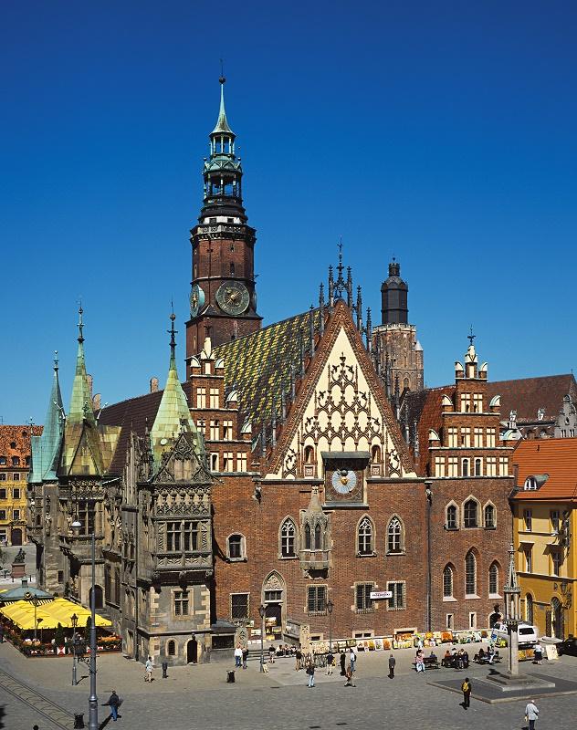 Hôtel de ville de Wroclaw en Pologne - DR OT Pologne