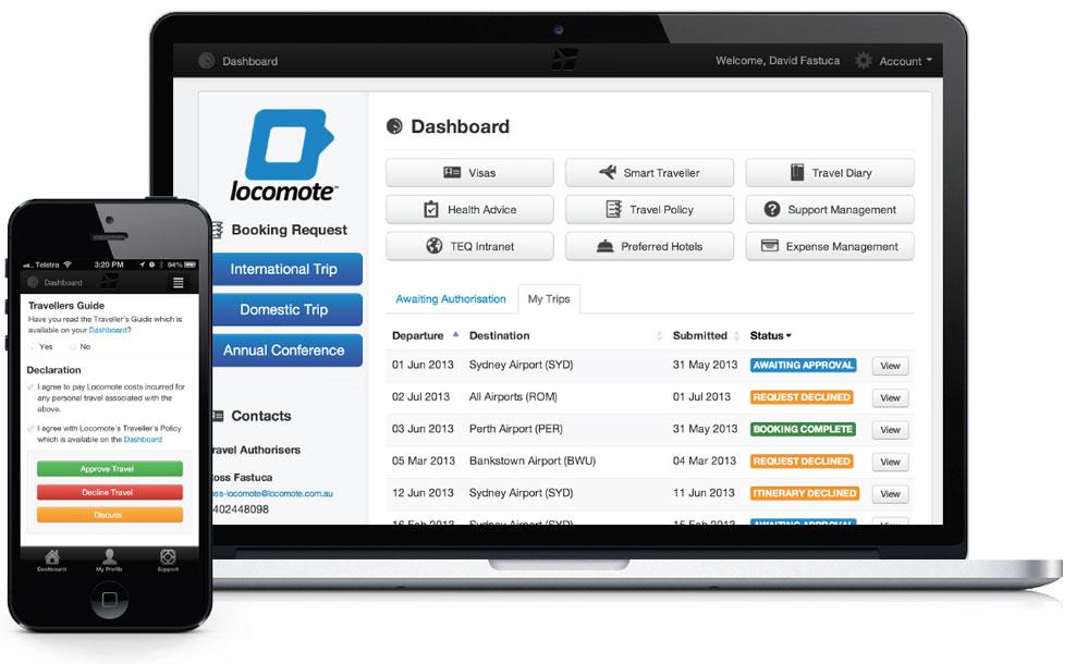 La plateforme de gestion Locomote - (c) Locomote