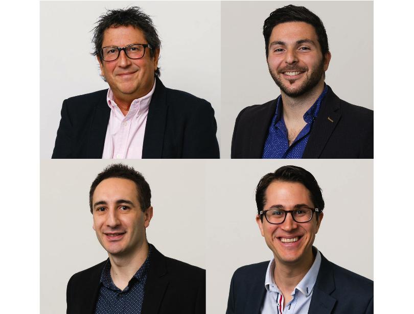 Les fondateurs : Philip Weinman, David Fastuca, Ross Fastuca et Dean Weinman - (c) Locomote