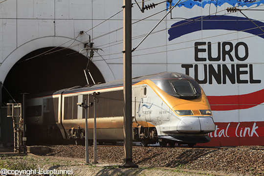 Le trafic ferroviaire est en baisse pour Eurotunnel au 4e trimestre 2015 - Photo : Eurotunnel