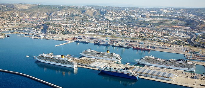 Marseille a accueilli 1,45 million de croisiéristes en 2015 - Photo : Port Marseille Fos