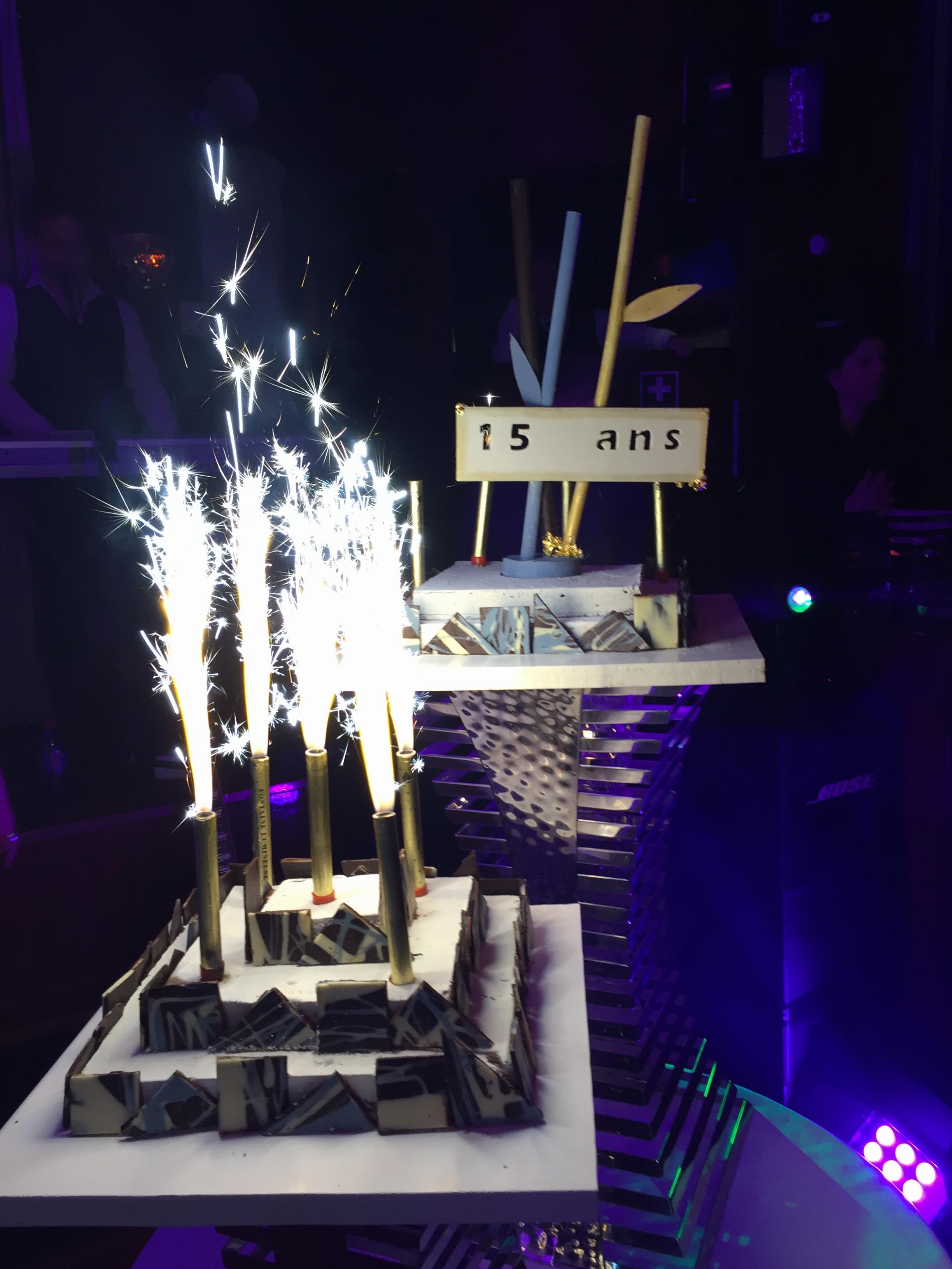 Gâteau d'anniversaire des 15 ans de Thalazur