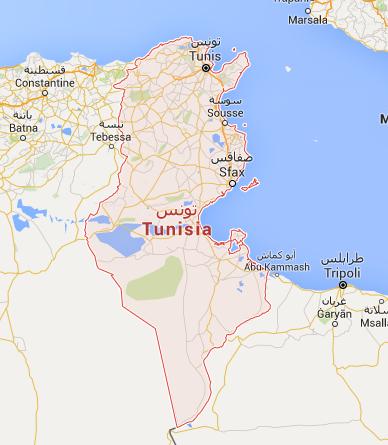 Le couvre-feu s'applique sur tout le territoire tunisien - DR : Google Maps
