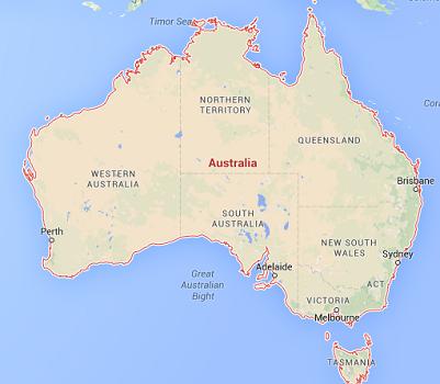 Le Quai d'orsay met en garde les voyageurs français contre les feux de brousse en Australie - DR : Google Maps