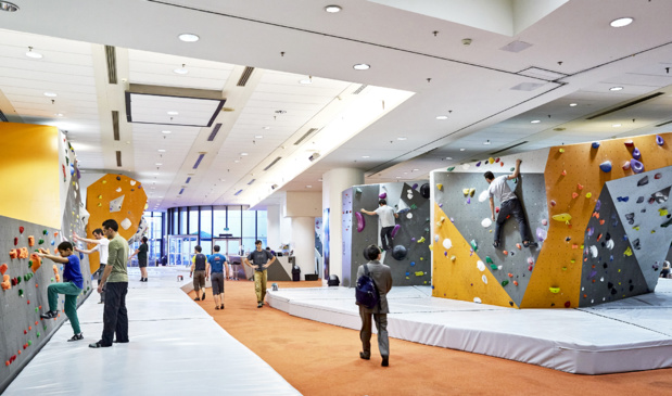 Climbing walls of CNIT Move