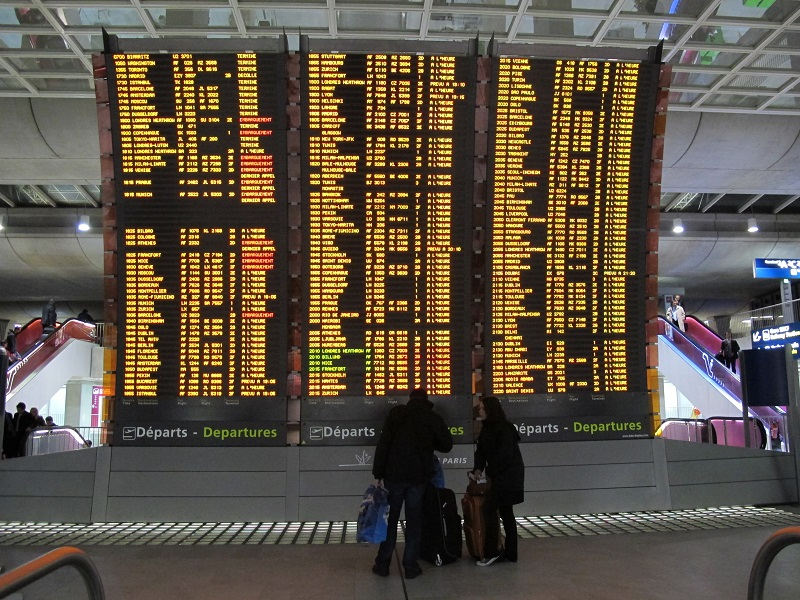 Pour ce mardi 26 janvier, la DGAC a demandé aux compagnies aériennes de supprimer 20% de leurs vols, pour les aéroports de Paris CDG, Orly, Bordeaux, Marseille, Nice, Toulouse, Lyon et Nantes - DR : A.B.