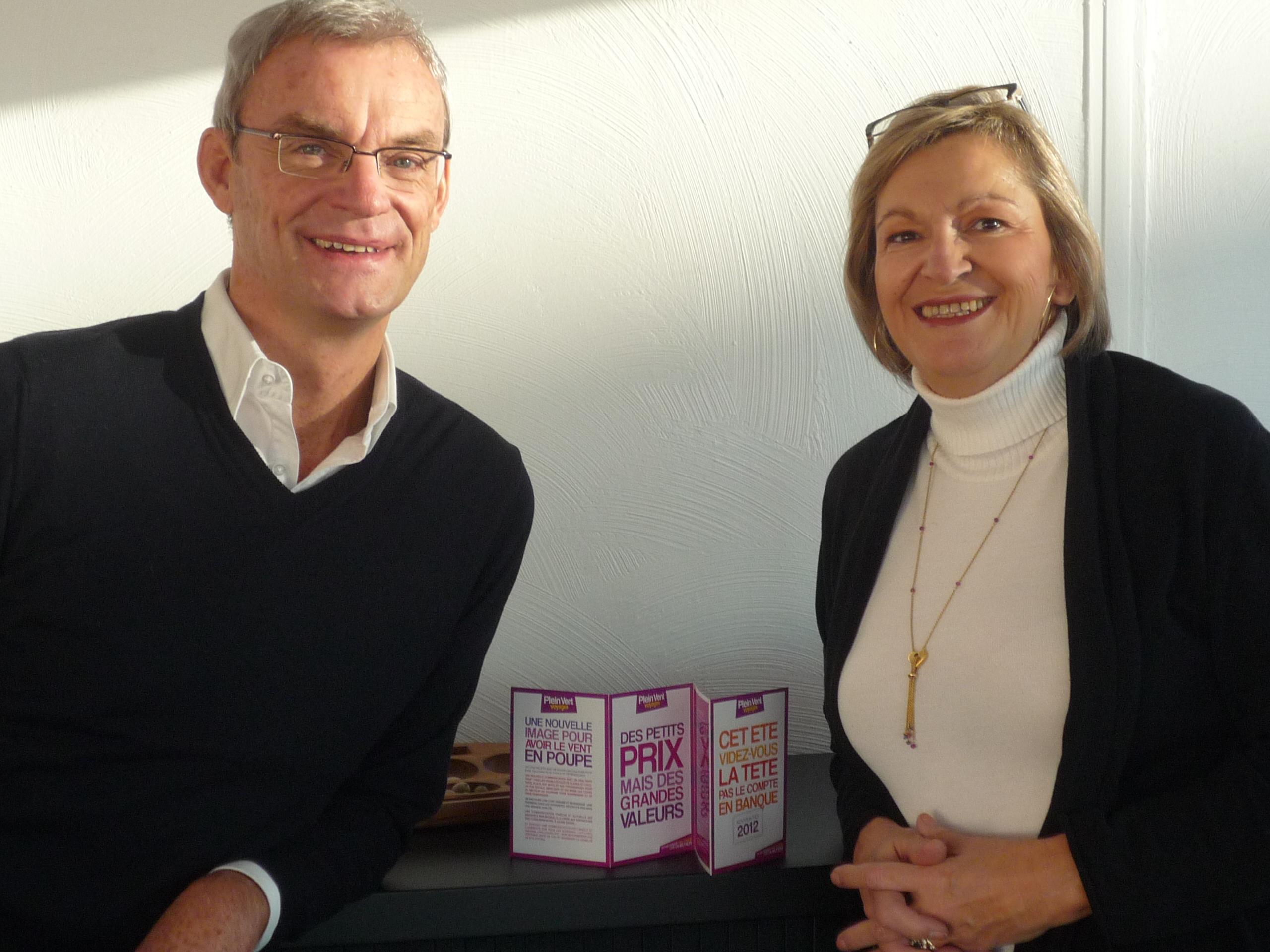 Joost Bourlon, le PDG de Plein Vent accompagné par  Carole Pellicer. Tous deux sont confiants sur l'avenir du TO. DR-Plein Vent