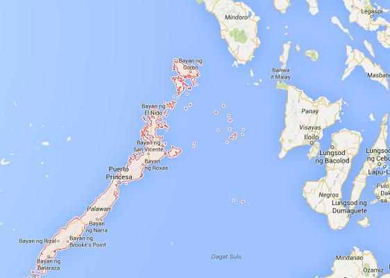 Le ressortissant français et sa famille vivaient à Puerto Princessa sur l'île de Palawan aux Philippines - DR : Google Maps