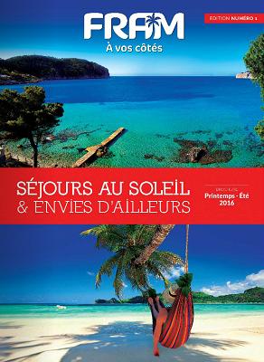 La couverture de la brochure printemps-été 2016 de FRAM - DR : FRAM