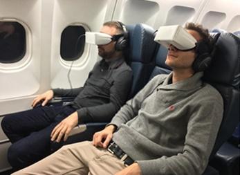 XL Airways teste le nouveau système de divertissement auprès de ses passagers depuis plusieurs semaines - Photo : XL Airways et Skylights