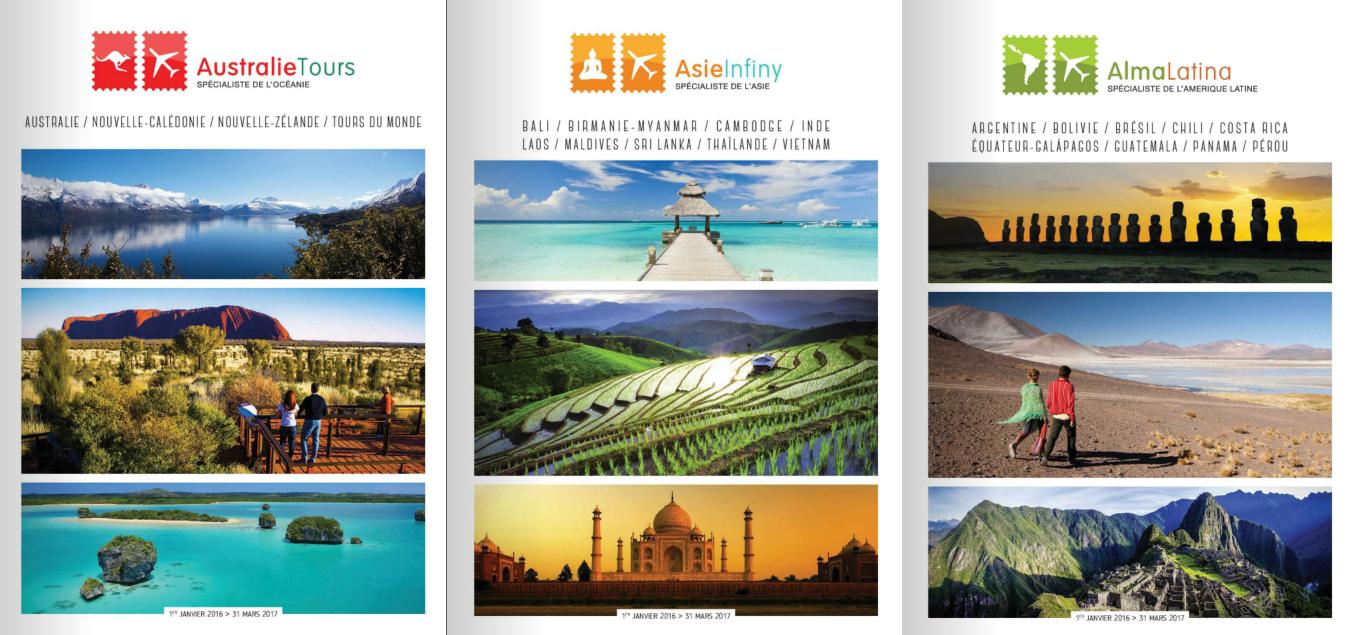 Les nouvelles brochures Australie Tours, Asie Infiny et Alma Latina - Photo DR