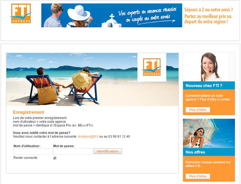 FTI Voyages veut devenir un TO d'envergure en France - Capture d'écran