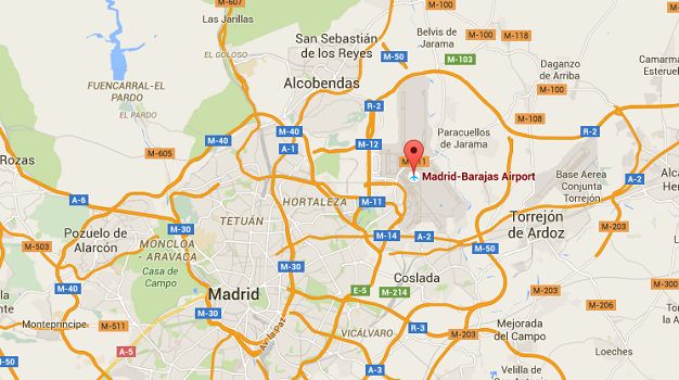 L'alerte générale a été déclenché à l'aéroport de Madrid-Barajas - DR : Google Maps