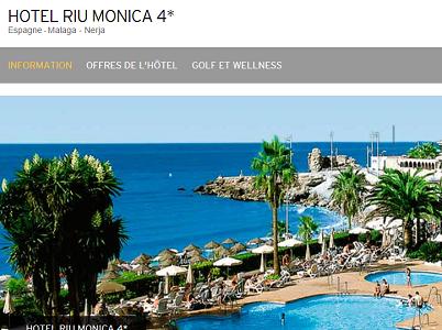 Les réservations en ligne sont ouvertes pour le RIU Monica - Capture d'écran