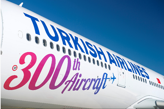 Le 300e avion de la flotte de Turkish Airlines - Photo : Airbus S.A.S. 2016-MasterFilms/A. Doumenjou