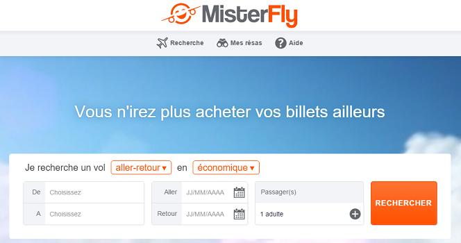 Les agences de voyages du groupe Boiloris vont désormais pouvoir utiliser l'offre de MisterFly - Capture d'écran