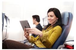Les passagers de Delta Air Lines peuvent désormais profiter du W-Fi pour se connecter à Internet pendant les vols transatlantiques - Photo : Delta Air Lines