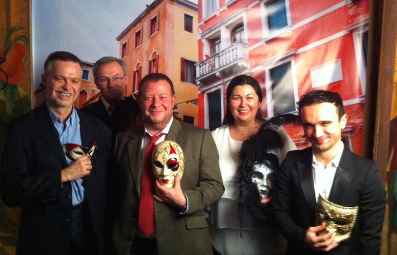 L'équipe de Travel Lab Kuoni lors de la soirée de renaissance de la marque Donatello. DR-LAC