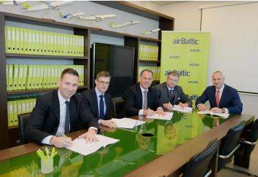 L'accord a été signé avec le gouvernement letton - Photo : Air Baltic