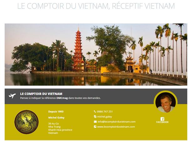 La fiche de Comptoir du Vietnam sur DMCMag.com - Capture d'écran