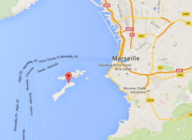 Les îles du Frioul sont situées à quelques centaines de mètres du Vieux-Port de Marseille - DR : Google Maps