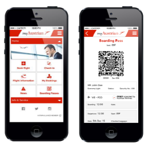 La nouvelle application mobile myAustrian d'Austrian Airlines - DR : Austrian Airlines