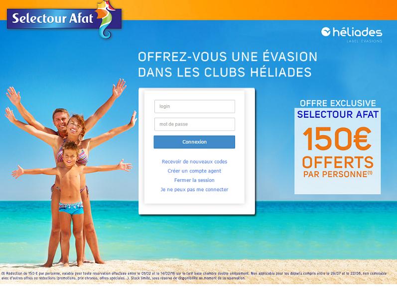 Chaque semaine, Selectour Afat mettra à jour le guide de référencement et la page tourisme de son intranet Saphir - Capture d'écran