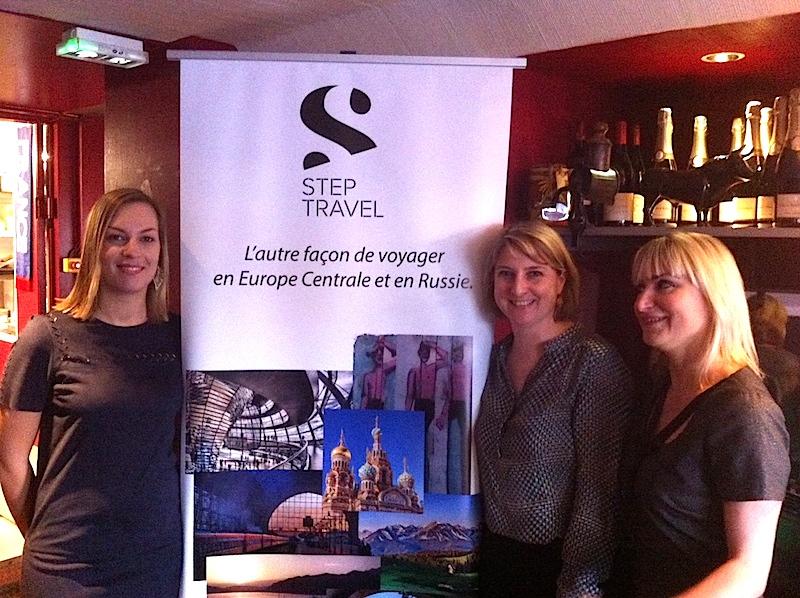 L'équipe de Step Travel : Audrey Picquot qui vient de rejoindre les deux fondatrices Blandine Vignals et Géraldine Chachourine - DR : LAC