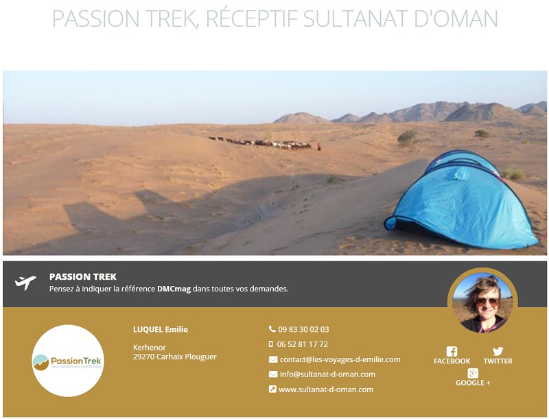 La fiche de Passion Trek sur DMCMag.com - Capture d'écran