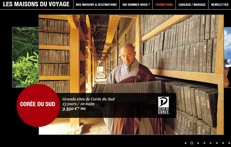 DR : Capture d'écran Les Maisons du Voyage