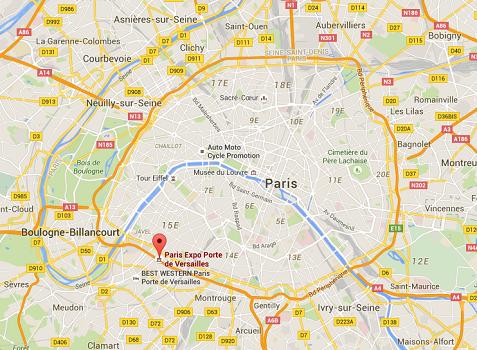 Le nouvel hôtel Mama Shelter ouvrira ses portes sur le Parc des Expos de Porte de Versailles début 2019 - DR : Google Maps