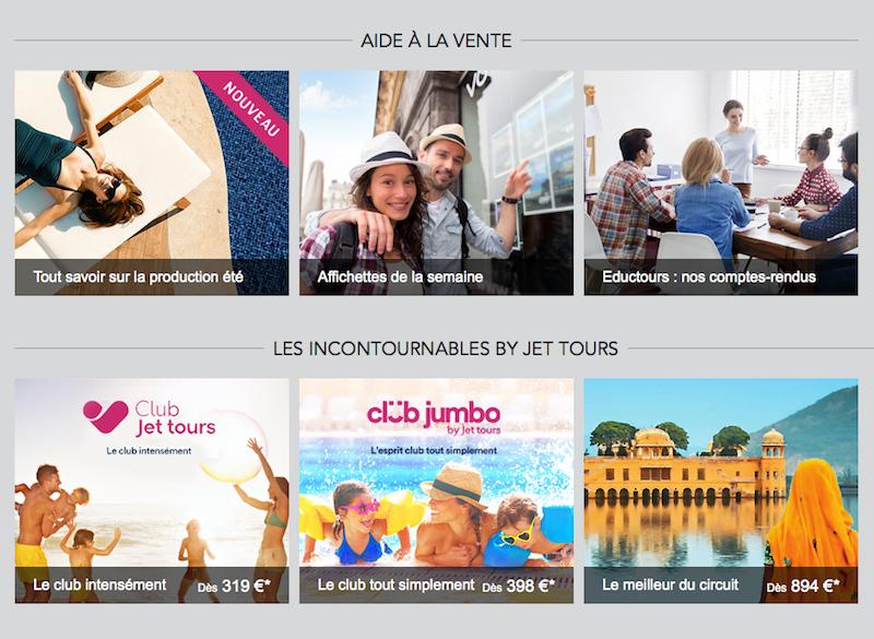 Des outils d'aide à la vente plus visibles et rapidement accessibles- (c) Jet Tours