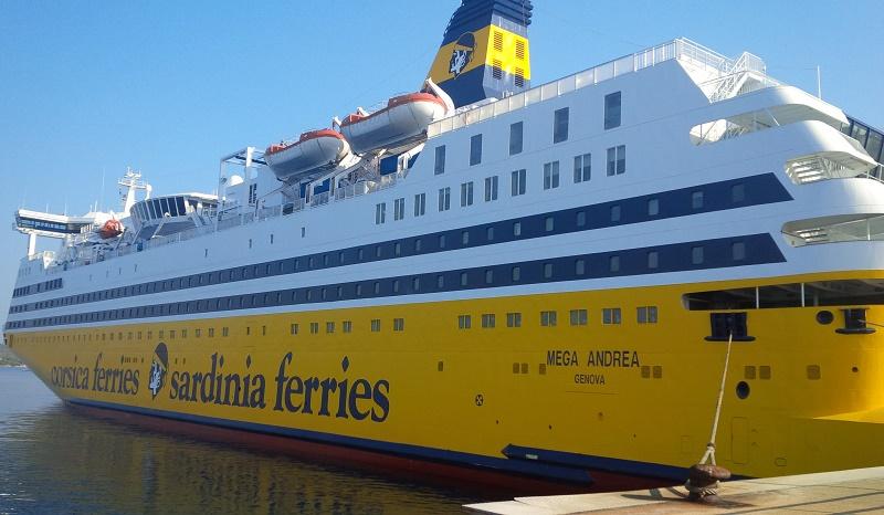 Le Mega Andrea va desservir la Sardaigne au départ de France : Porto Torres depuis Toulon et Golfo Aranci, dans la province d'Olbia, au départ de Nice - DR : Corsica Ferries