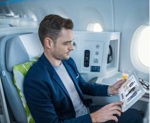 La boutique sera accessible sur tablette, smartphone et ordinateur connectés au portail WiFi de Finnair - Photo : Finnair