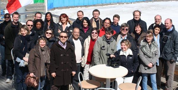 Le groupe ayant opté pour l'excursion à Sestrières...