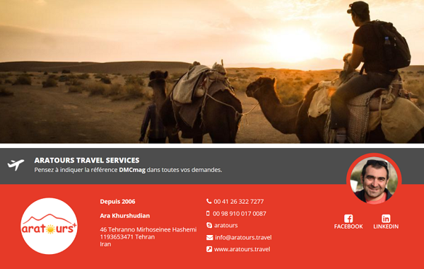 ARATOURS Travel Services est désormais référencé sur DMCMag.com - Capture d'écran