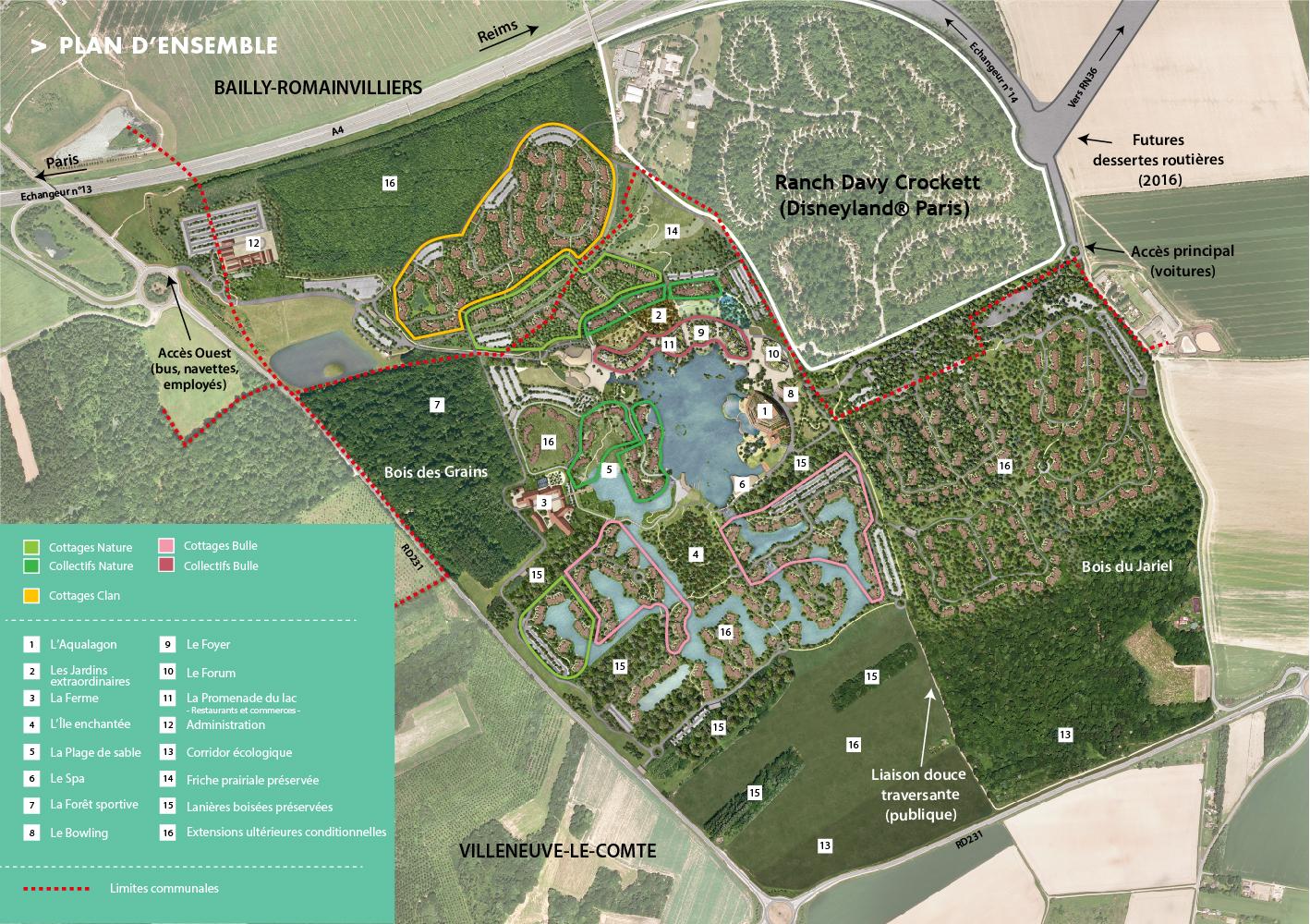 Plan de Villages Nature Paris