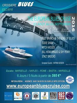 Le flyer de la prochaine croisière Blues Européenne de Voyages Byblos - DR