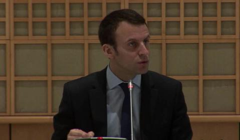 Emmanuel Macron qui s'exprime devant les parlementaires - Capture Ecran