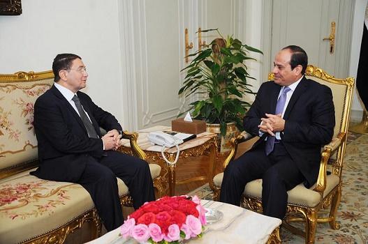 Lors de son passage en Egypte, le secrétaire général de l'OMT a rencontré le président égyptien - Photo : OMT