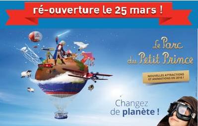 Le Parc du Petit Prince rouvre ses portes le 25 mars 2016 - DR : Parc du Petit Prince